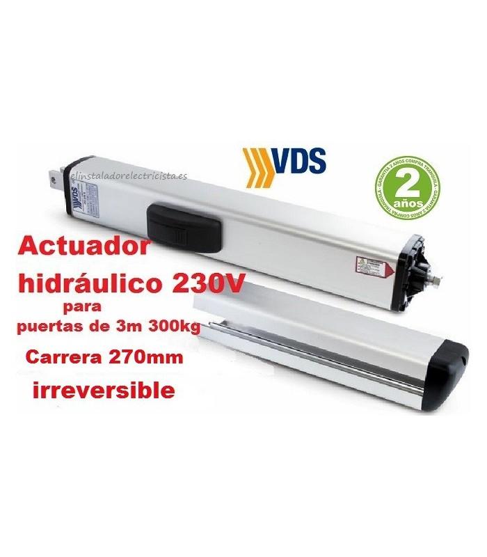 Brazo hidráulico PH1 C270 irreversible batiente 3m y 300kg VDS