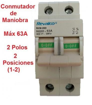 Conmutador 2 Posiciones 2 Polos 63A
