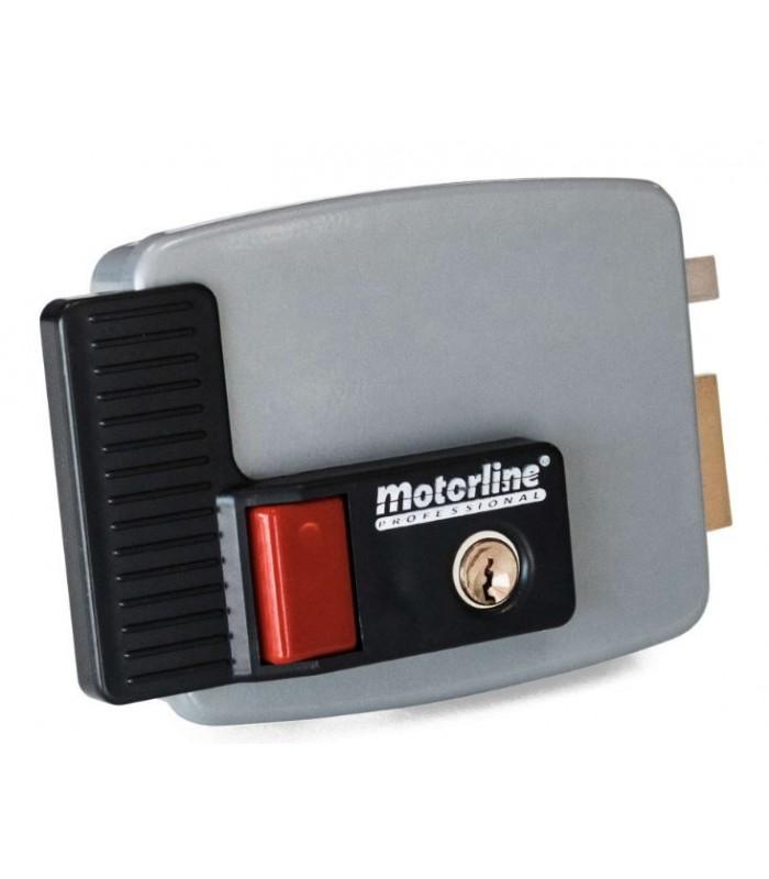 Electrocerradura con pulsador cierre a derecha