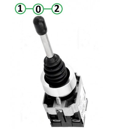 Joystick 2 posiciones con retorno al centro
