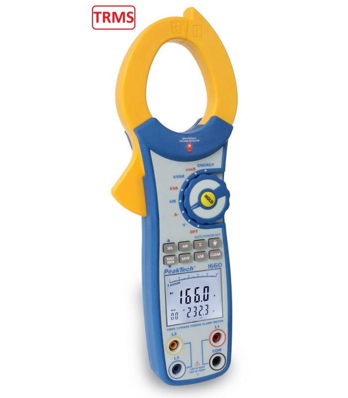 Pinza Amperimétrica 3 fases 750kW