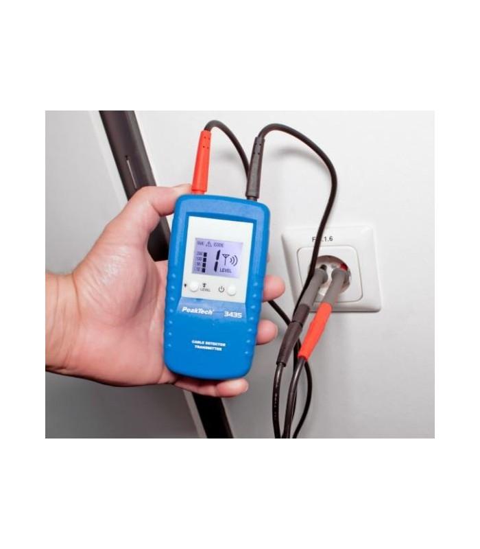 Detector de cables con receptor y transmisor