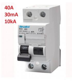 Diferencial 40A 10kA, 30mA 2 Polos tipo AC