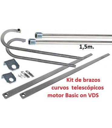 Kit de brazos curvos telescópicos motor Basic