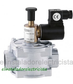 "Electroválvula de gas con rearme manual 1/2""L 500bar 12Vcc"