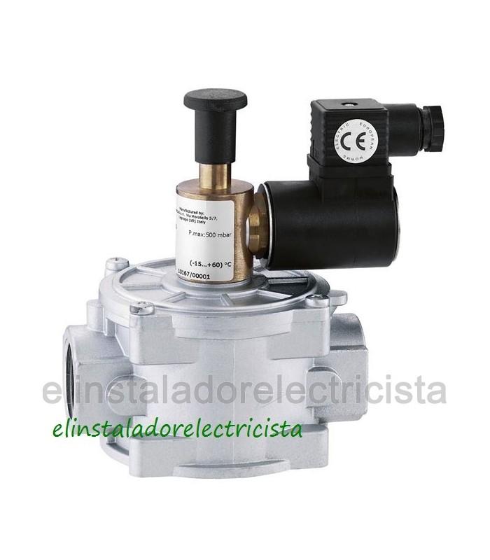 """Electroválvula de gas con rearme manual 1/2"""" 500bar"""