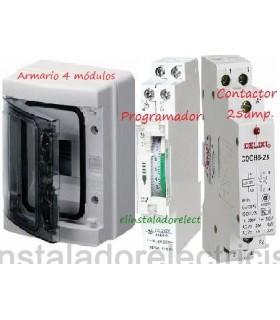 Kit Armario de Superficie con Reloj Analógico y Contactor 25A
