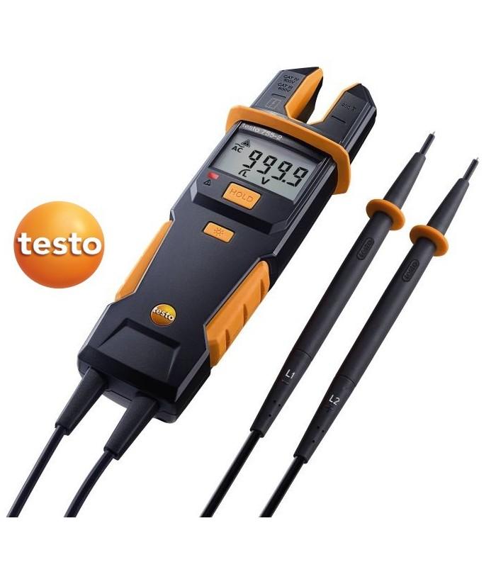 Comprobador de tensión y corriente Testo 755-2