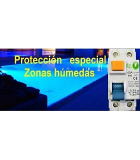 Diferencial especial 40A Sensibilidad 10mA Tipo AC, Zonas Húmedas