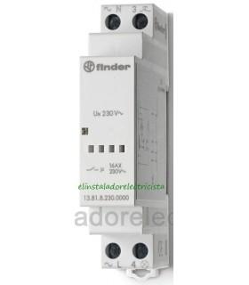 Telerruptor electrónico silencioso rail Din 1 N/A Finder 13.81.8.230