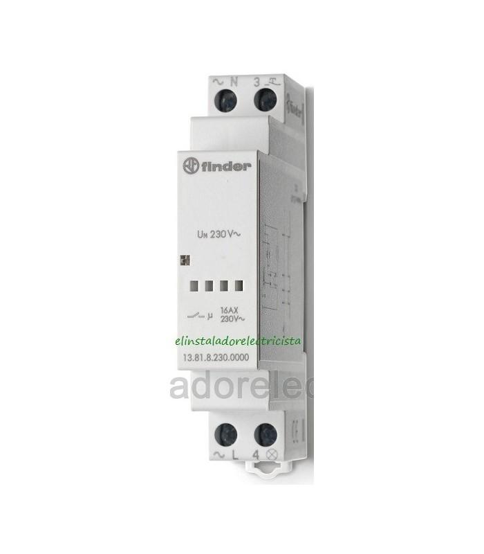 13-81-8-230-0000 Telerruptor electrónico modular 1NA 16A  Finder
