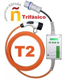 Equipo de recarga Trifásico Portátil Wallbox OUT T23F conector Tipo 2