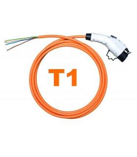 Conector Tipo 1 (J1772) – (32A) + 5 metros de cable