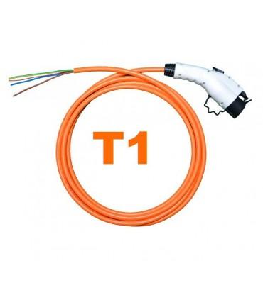 Conector Tipo 1 (J1772)  (32A) + 5 metros de cable