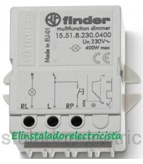 Telerruptor electrónico, Dimmer 400W Finder 15.51.8.230