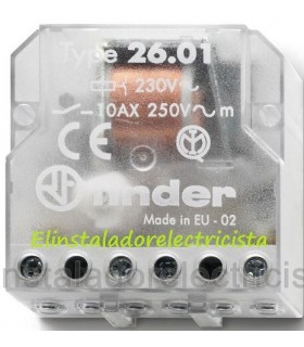 26.01 Telerruptor contactos separados Finder
