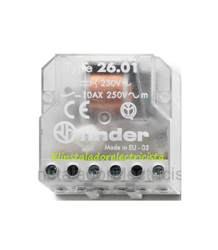 26.01.8.230.0000 Telerruptor electromecánico de bobina y contactos separados Finder 4 unidades