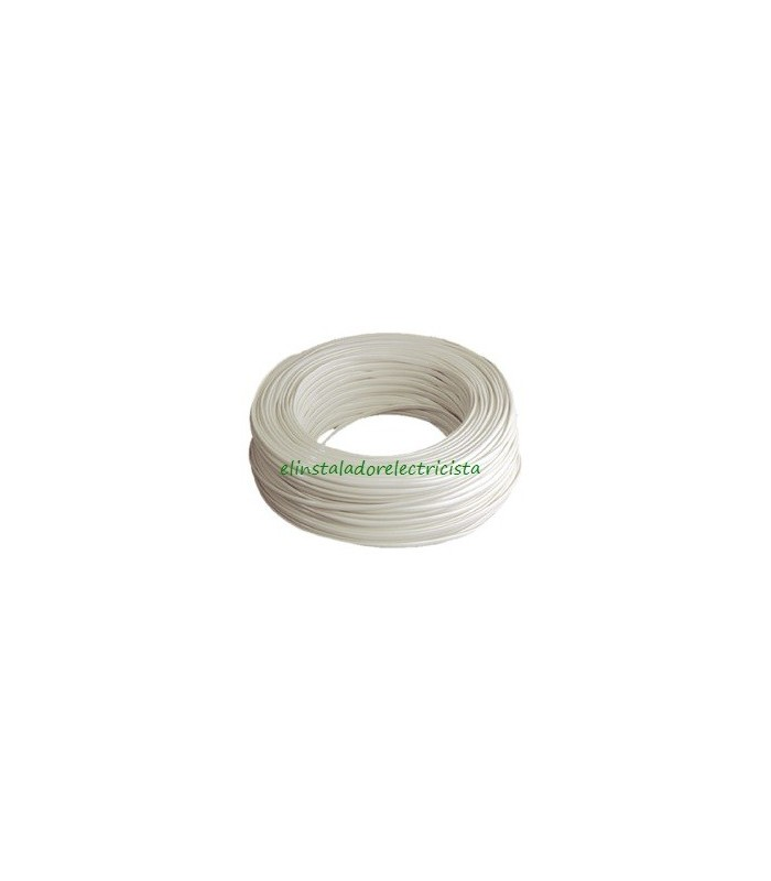 Cable telefónico 2 hilos 100 metros color marfil
