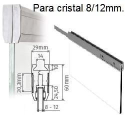 Pinza fijación cristal 8~12mm.