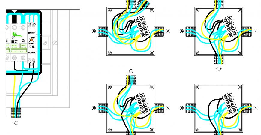 Automático de escalera a tres hilos